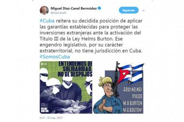 cuenta de Twitter de Miguel Díaz-Canel